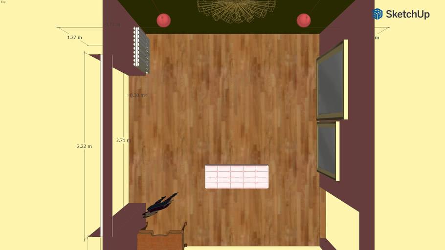Lit Interiors 160x200 avec tiroirs en bois blanc satiné - Harmonie