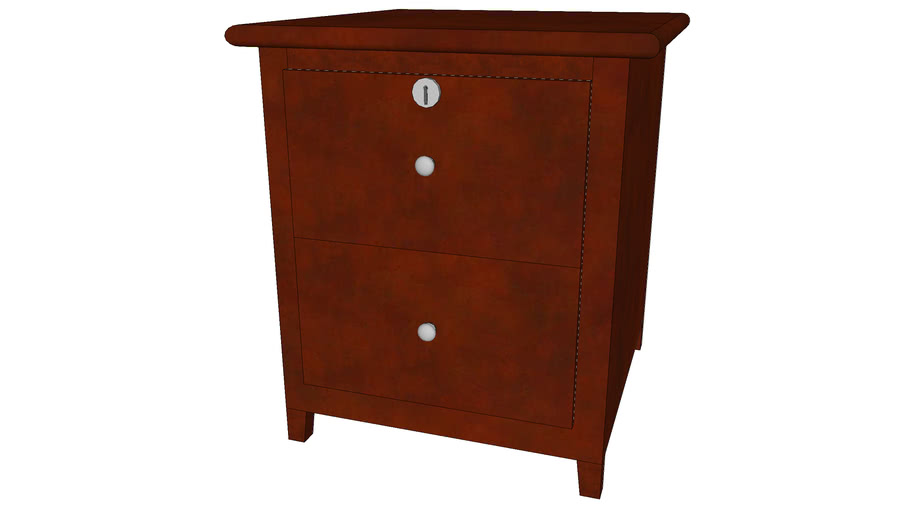 Nightstand 2 Drawer Small - Detailed