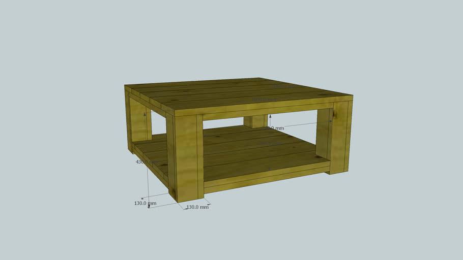 Steigerhouten salontafel 100x100cm