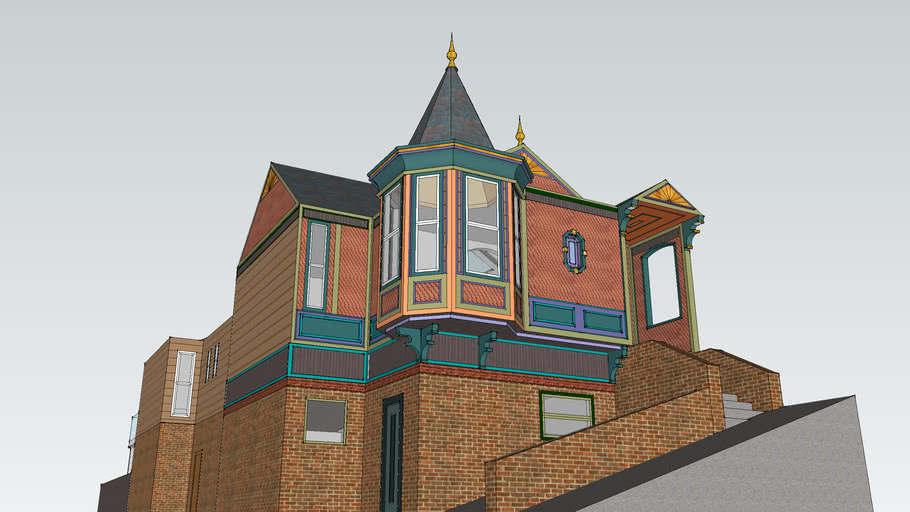 Painted Lady Queen Anne Cottage with Turret