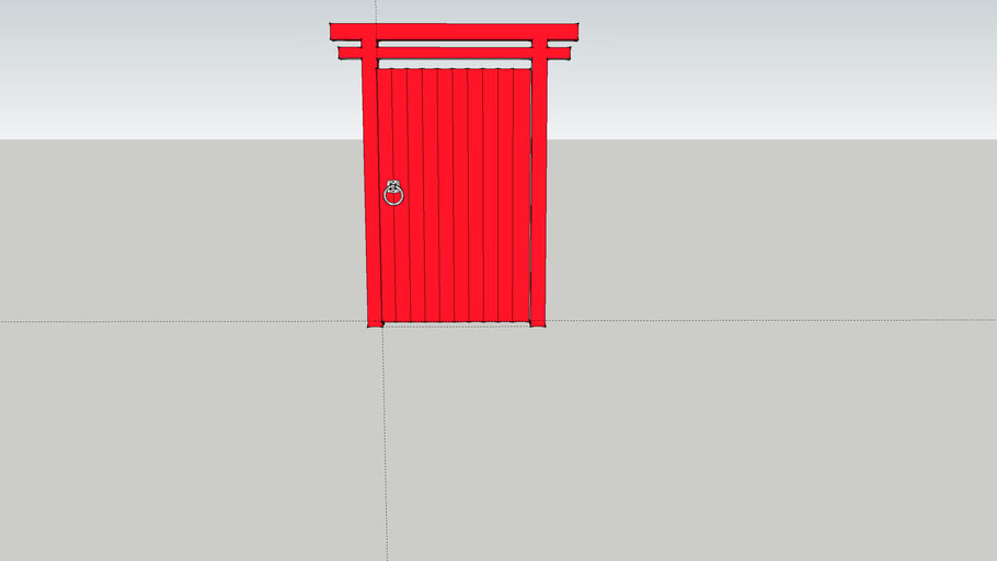 Japanese Gate and Frame in Red
