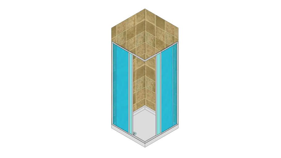 Ante Scorrevoli In Plexiglass.Box Doccia Ad Ante Scorrevoli 3d Warehouse