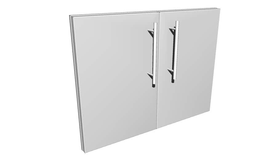 """Designer Series 30"""" Multi-Configurable Double Door w/Door Shelves"""