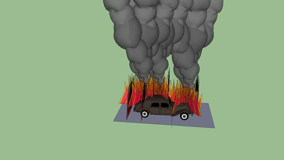 burning Citroen
