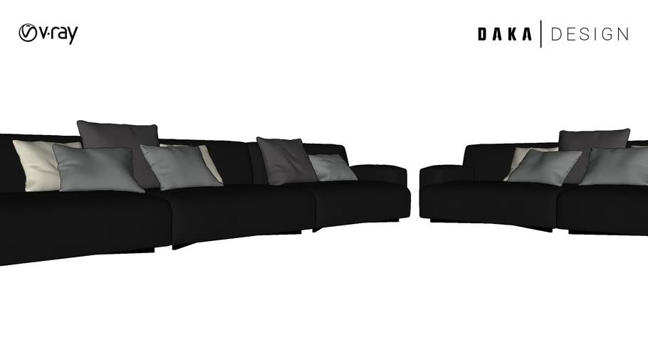 Sofa en piel completo