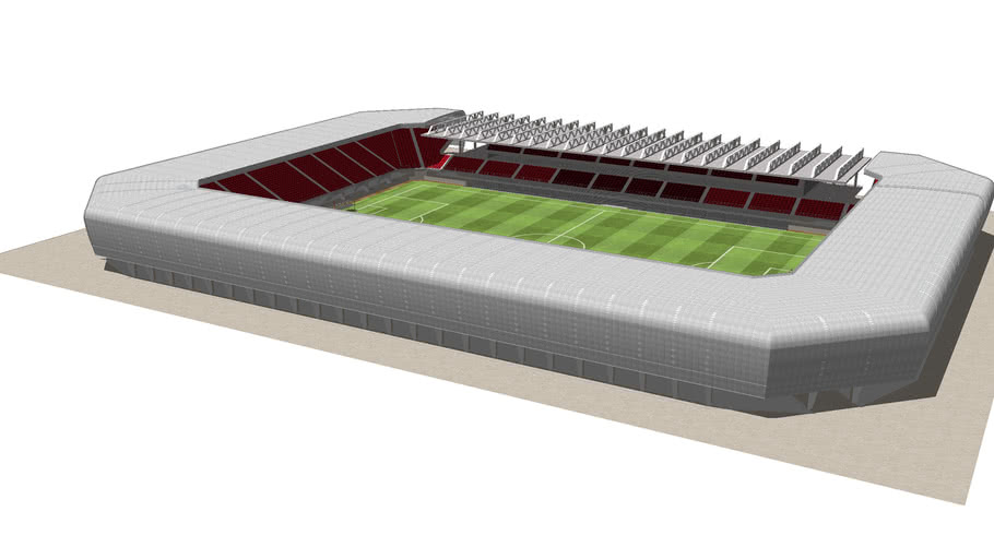 Small scale football stadium