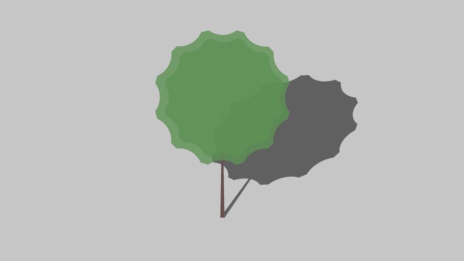 2,5d Round Tree