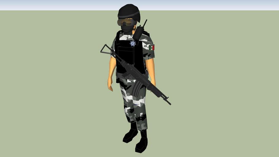 police man policia estatal de yucatan