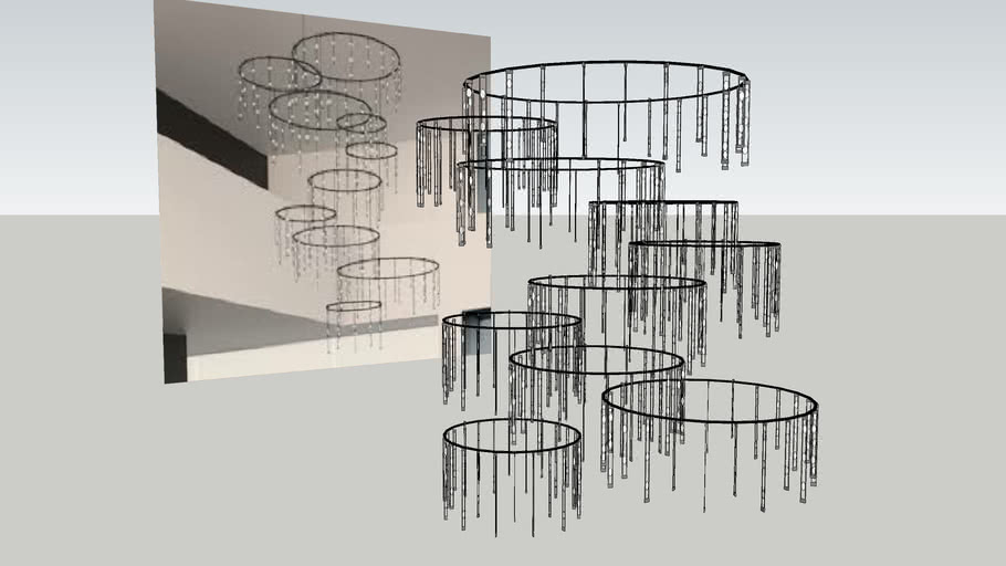Suspenders Vertical Ring Matrix By Sonneman
