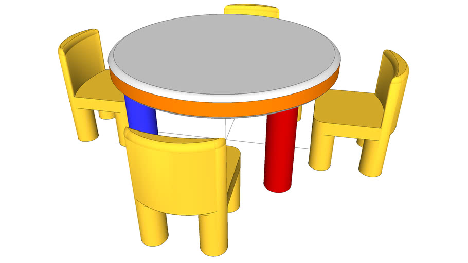 Table+and+Chairs.skp 1