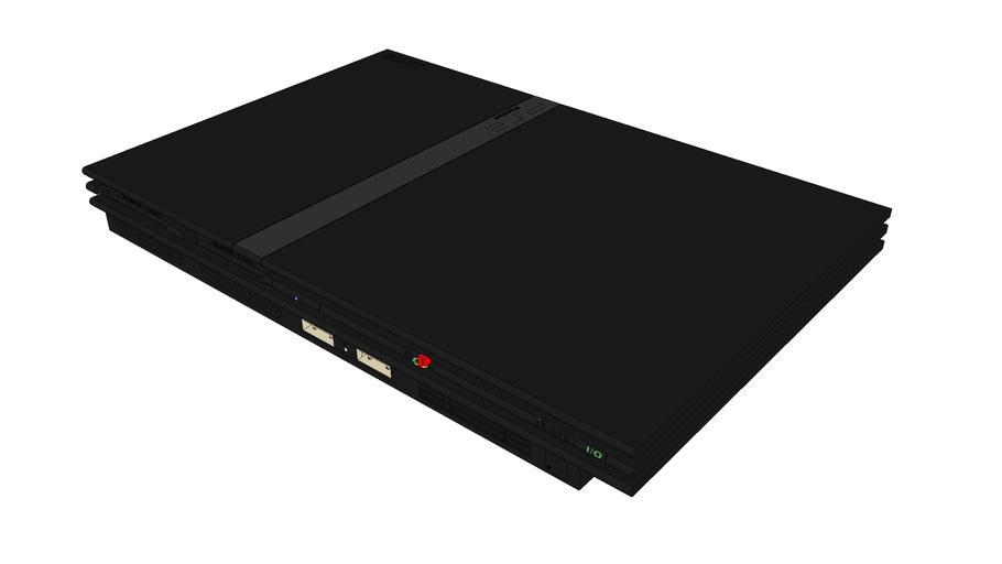 ps2 console slim black edition