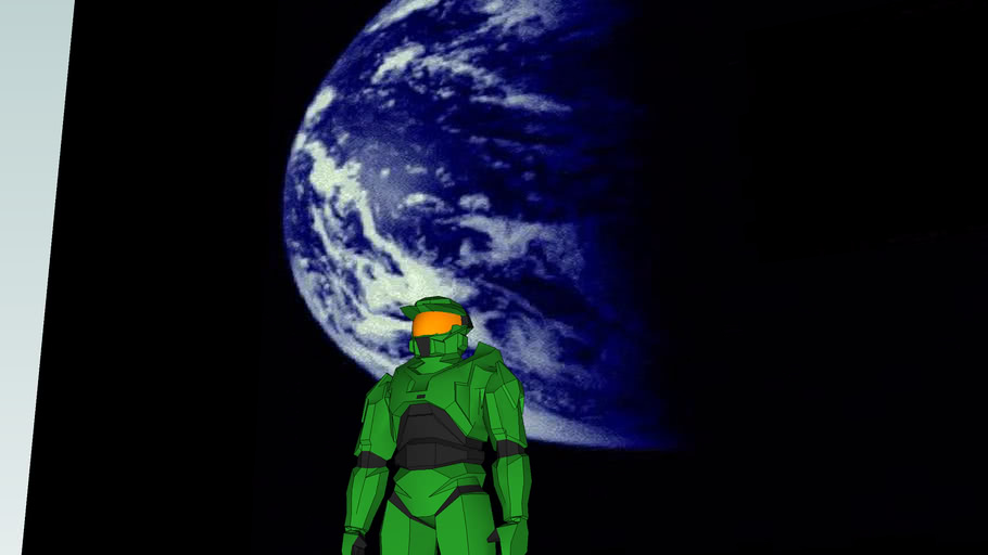 master chief in space