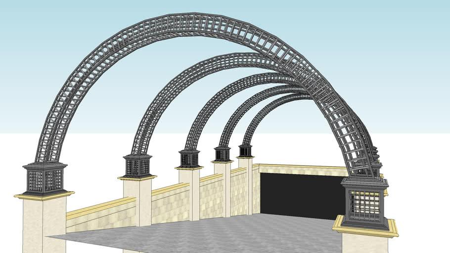 铸铁廊架 车库入口