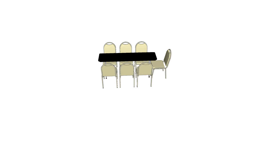 6' Skinny Table w/ Chairs
