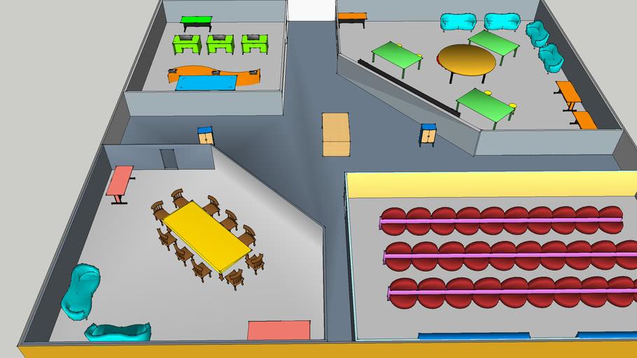 商业会馆模型