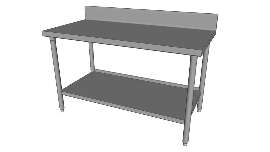 Worktable w/Back-Splash & Under-Shelf [WT1-30-US-60]