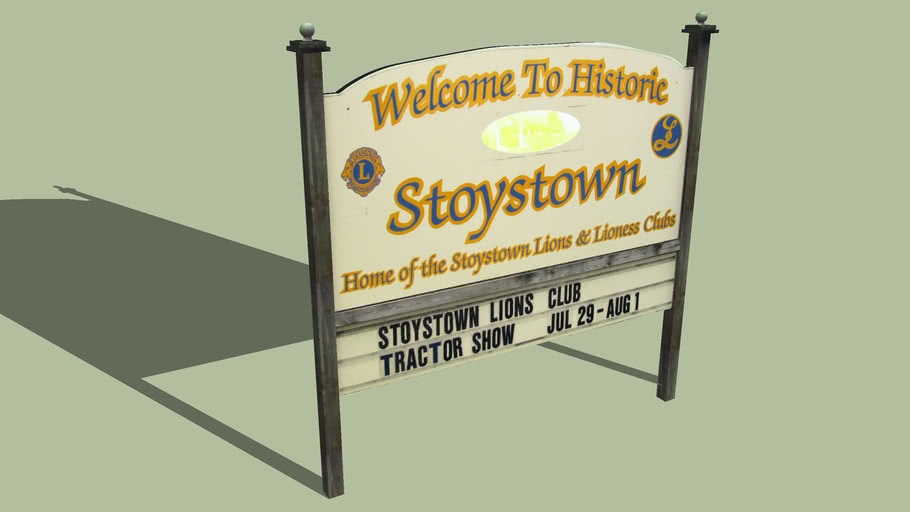 Welcome Sign Stoystown, Pennsylvania
