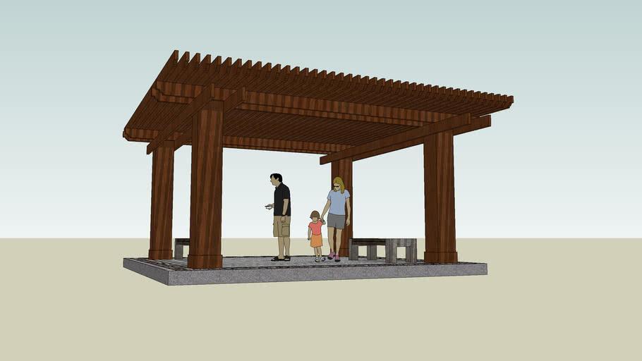 wooden trellis