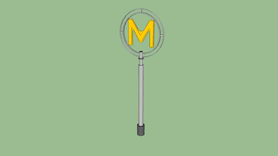 """Mat """"M jaune"""" RATP"""