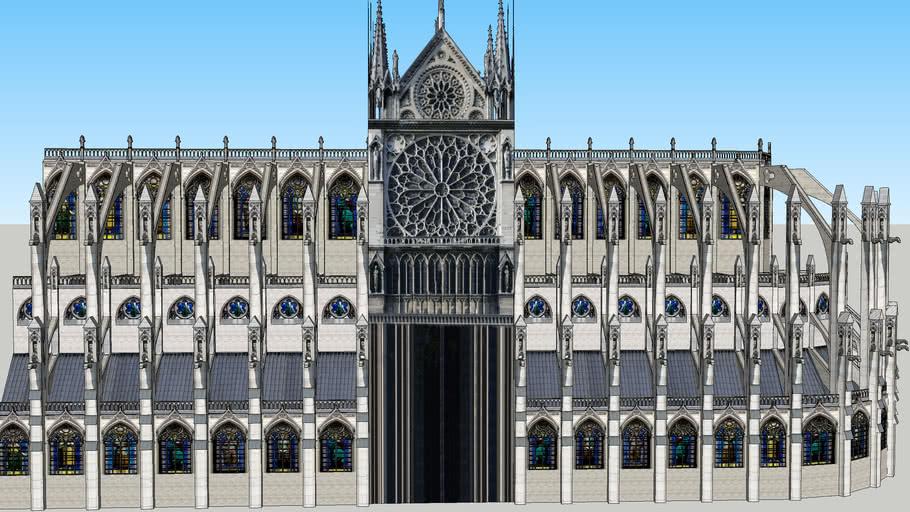 Lateral Izquierdo De La Catedral De Notre Dame Paris 3d Warehouse