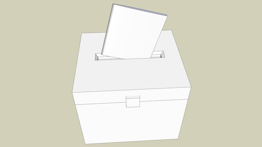 Wahl-Urne einfach  simple Votingbox