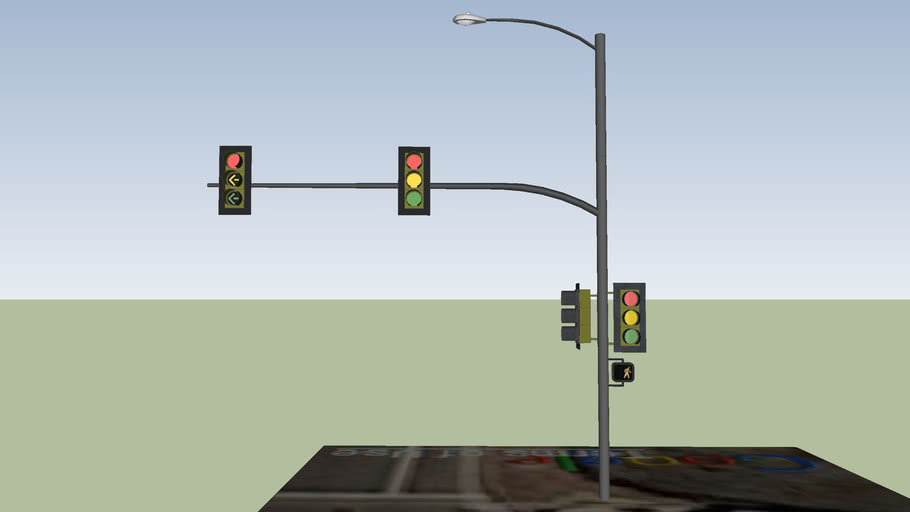 2 light intersection w Left turn at Los Carneros and Mesa Ln SW corner