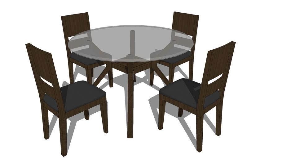 Circular Dining Table 4 Seater 3d Warehouse