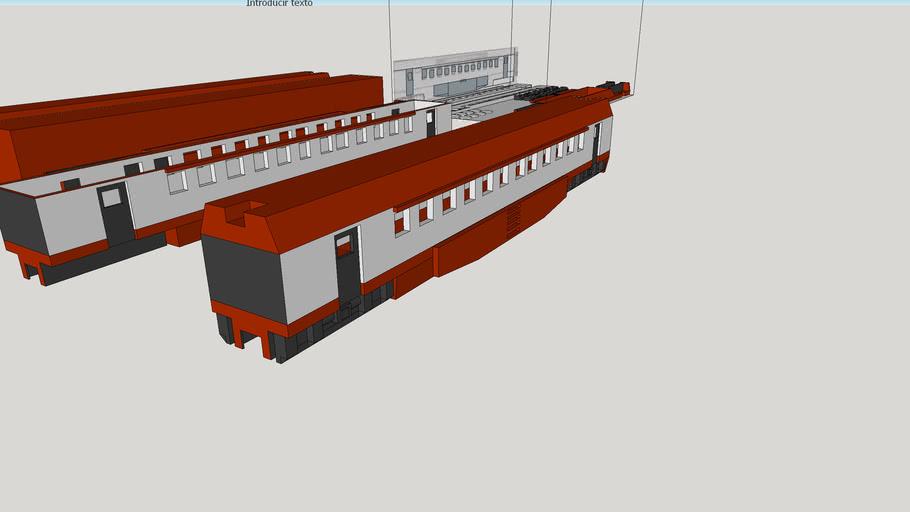 Galaxy Railways SDF (HO Scale) Coach
