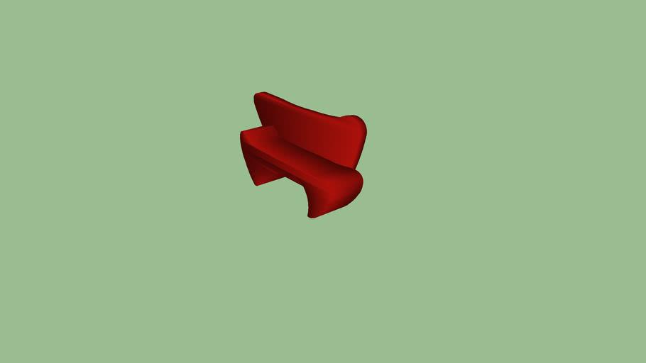 Contemp RED Designer Sofa