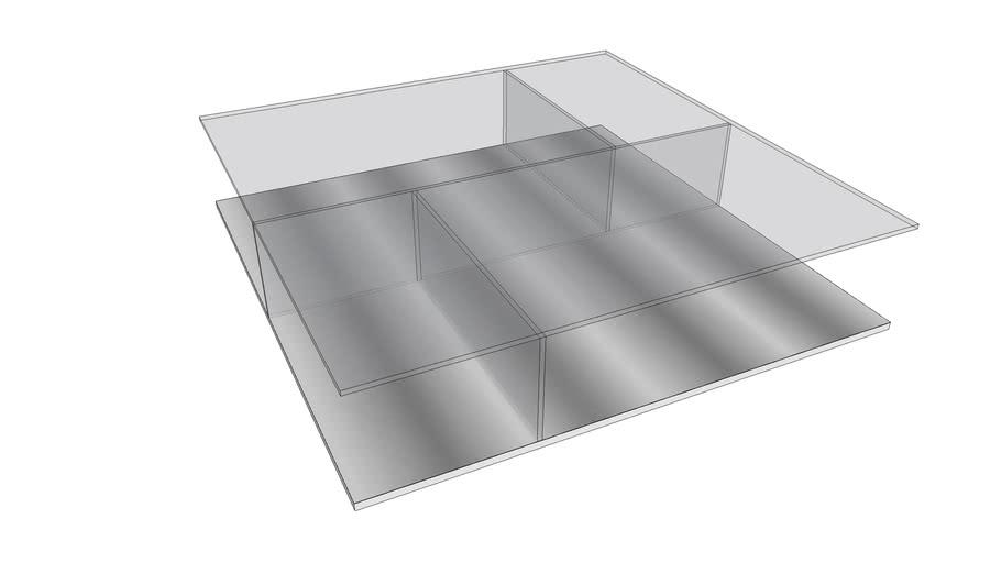 Mesa de Centro Bauhaus 140x140 - V03