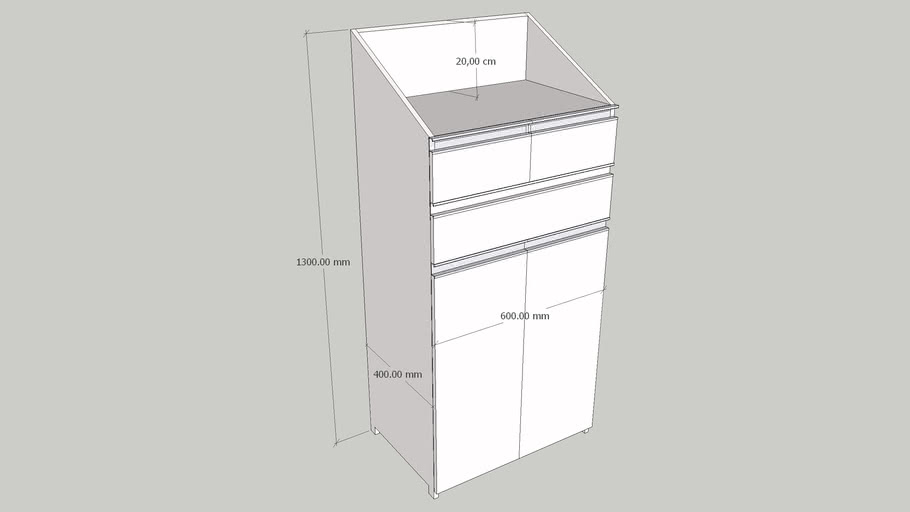 Móvel balcão compacto