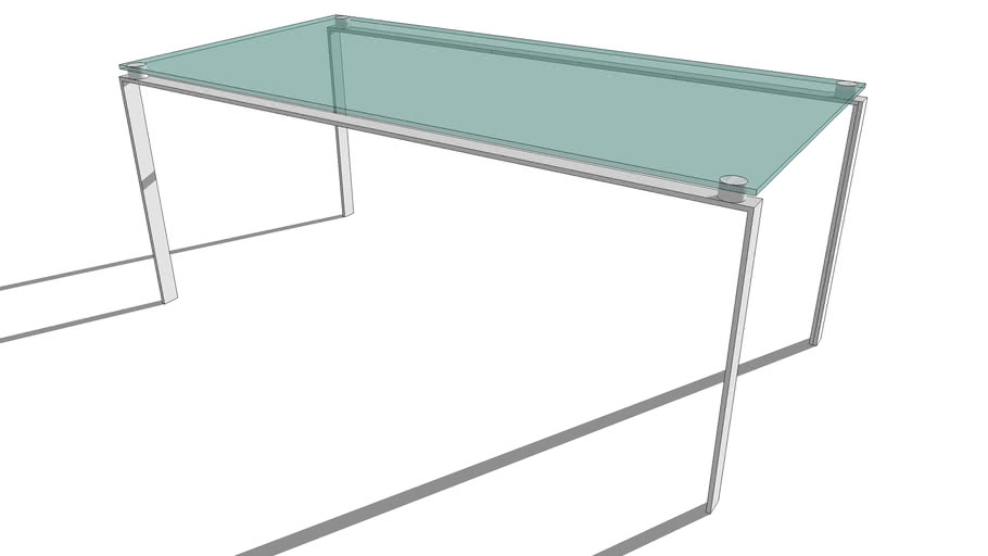 desk table Foster glass