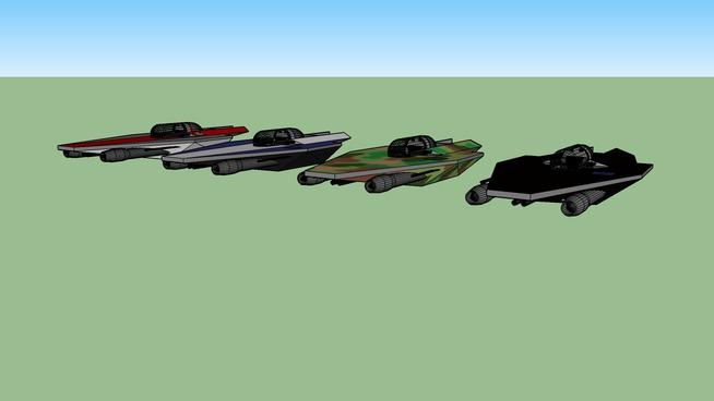 Class-A Arrowhead Starfighters, 4 different paint jobs