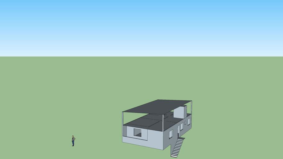 Planta casa com cobertura Dalva