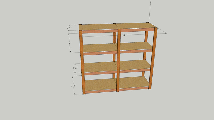 shelving unit for file boxes archive
