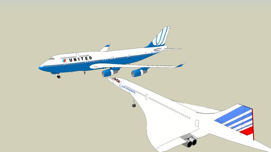 choque entre un concorde y un 747