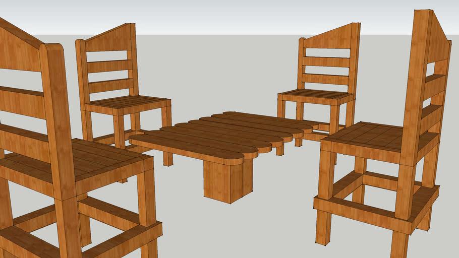 Chair ou chaise en bois