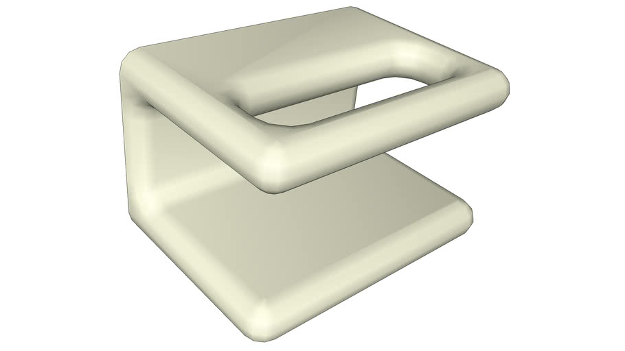 Wall mounted soap dish high polygon