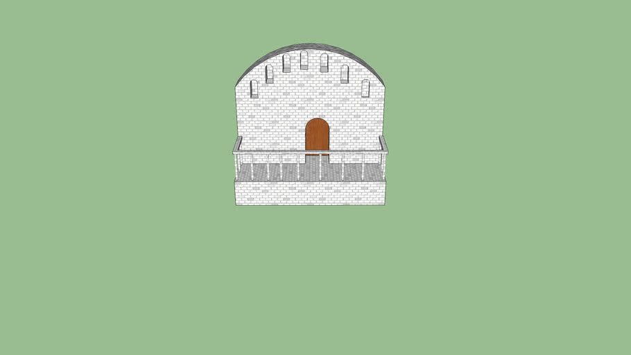 Minas Tirith House Balcony