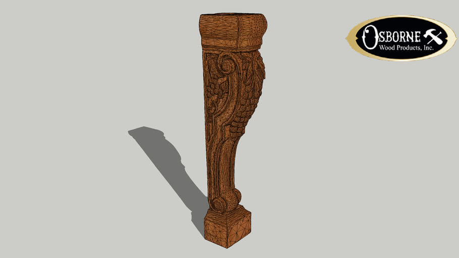 """Island Height Corbel with Grapes (36"""" x 7"""" x 7 1/2"""")"""