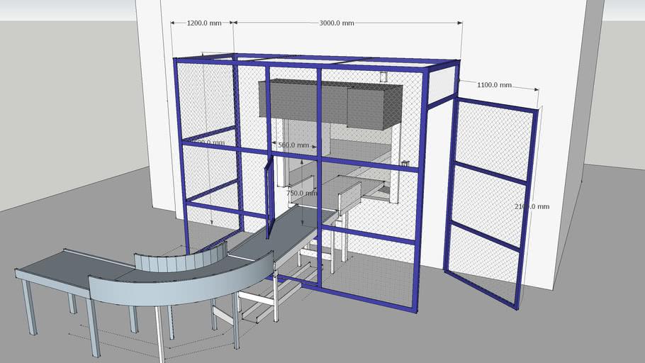 Conveyor with security fencing