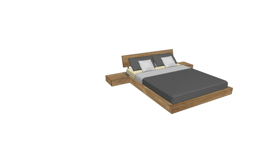 LA730+800, Lausanne Bed 160x200cm with Nightstands