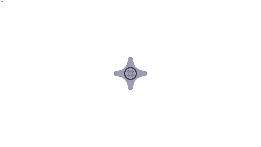 Star nut with screw M12 x 60 mm
