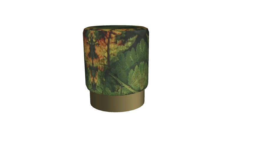 85141 Stool Cherry Leaf Brass  35cm