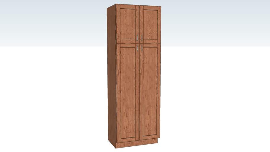Utility Cabinet Double Door 21D