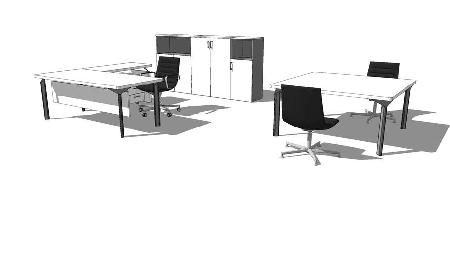 MECO desk composition classic 002 JOY LINE