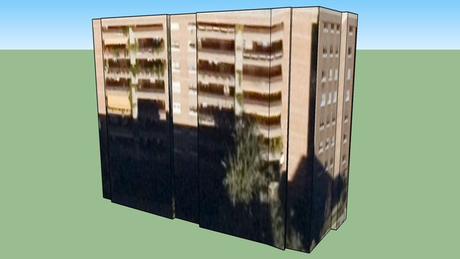 Edificio en Madrid, España.Carmen Amaya n2.Por Eduardo.Fuentes