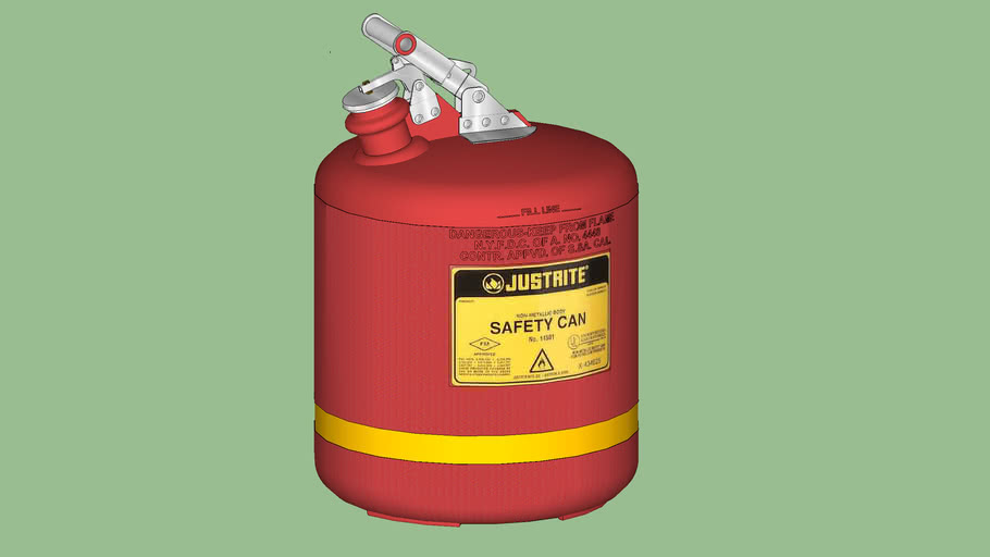 Safety First Series - Safety Can - Justrite® Type 1 Non-Metallic - 5 gal.  - Model 14561