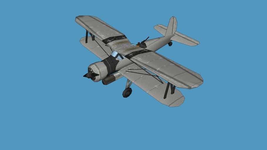 Arado Ar-195 (low poly)