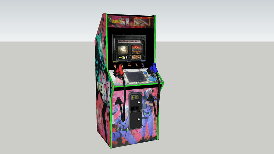 Area 51 / Maximum Force Dual Arcade Cabinet